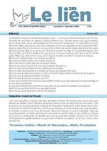 Le Lien 285 - Novembre 2016